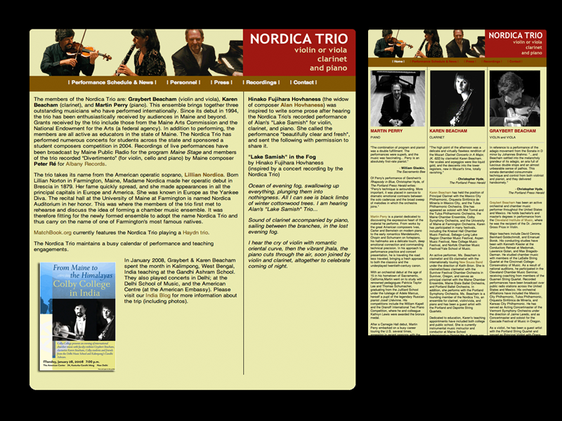 Nordica Trio website